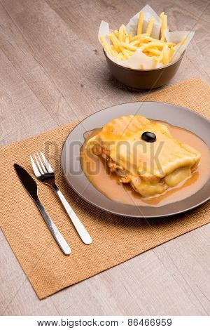 Francesinha And French Fries