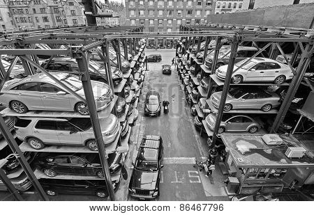 Multi-level Parking Garage In New York City