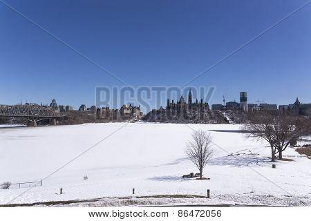 City scape in winter