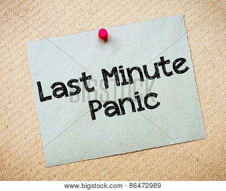 Last Minute Panic