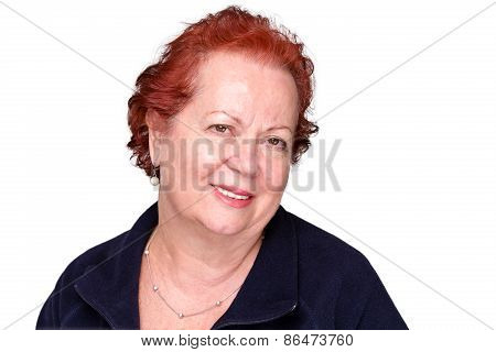 Stylish Senior Lady With A Genuine Smile