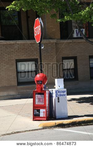 Chicago Newspaper Box