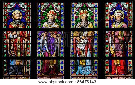 Latin Saints - Stained Glass Window In Den Bosch Cathedral, North Brabant