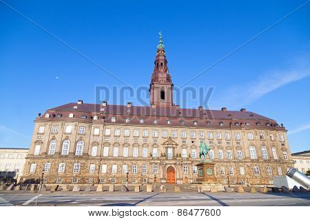 Christiansborg Castle in the central Copenhagen Denmark