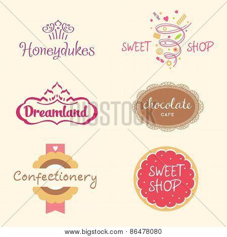 Set logos. Sweets
