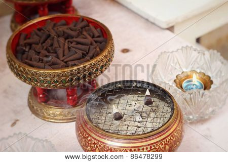 Incense Cones Aromatic Brown Groups