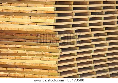 Wooden board for terrace