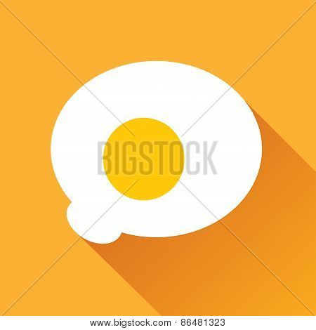 Fried Egg Flat Icon