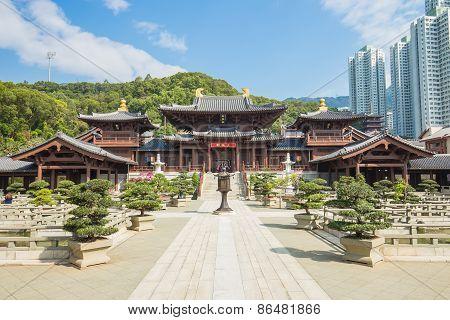 Chi Lin Nunnery In Hong Kong, China