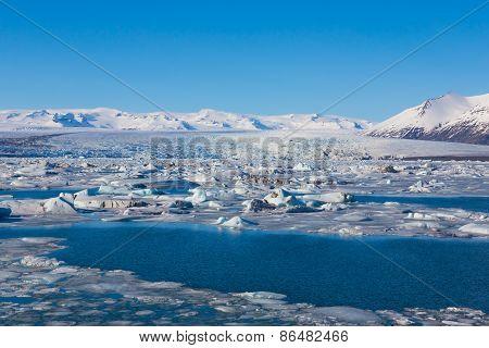 Jokulsarlon lake iceberg lagoon