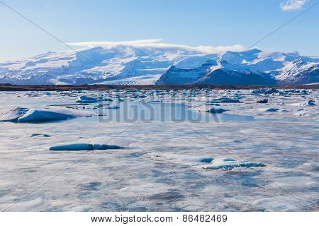 Ice floe on the ice field