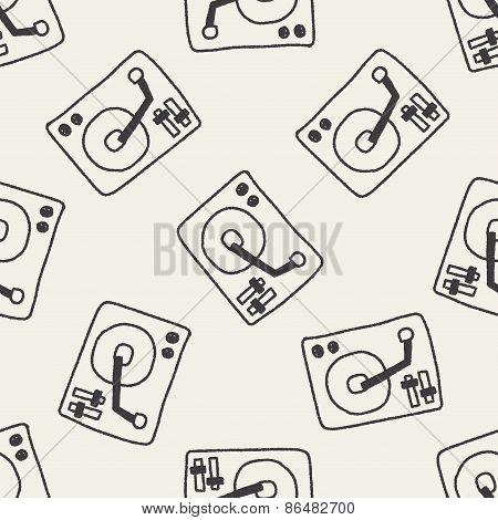 Dj Disk Doodle Drawing