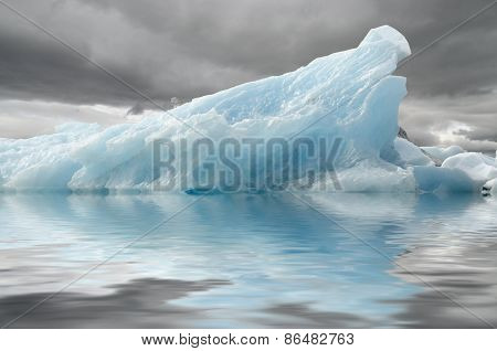 Blue Iceberg Reflection