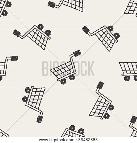 Shopping Cart Doodle Drawing