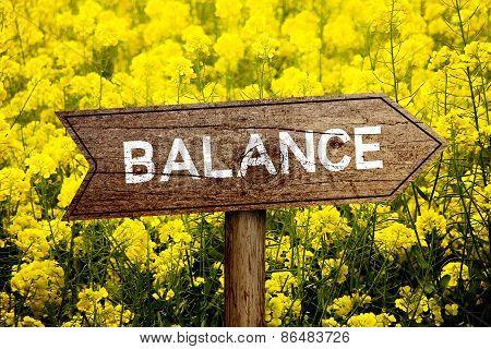 Balance Roadsign