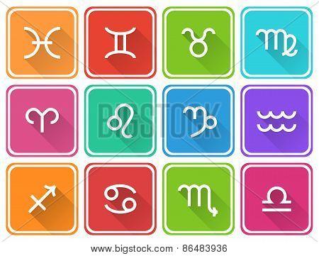 Zodiac symbols icons