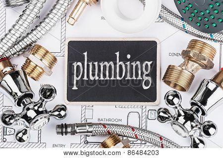 Plumbing And A Blackboard