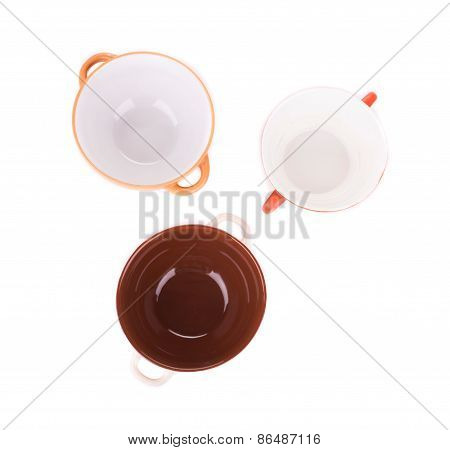 Empty plates isolated