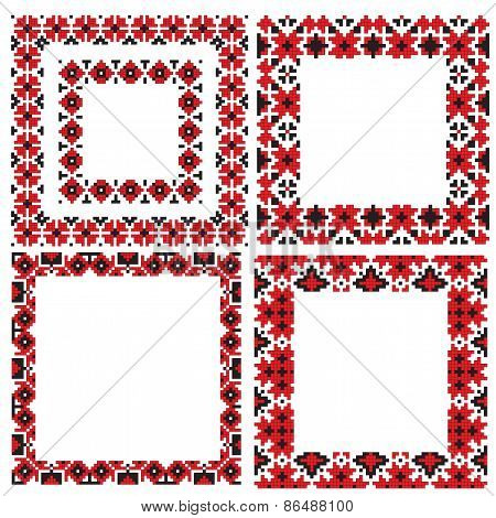 ukrainian frames folk embroidery