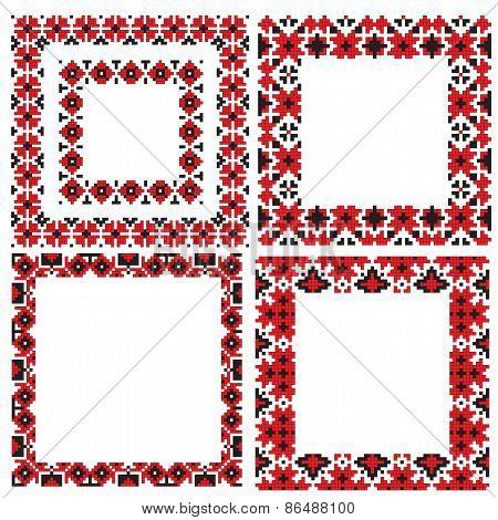ukrainian frames folk embroidery