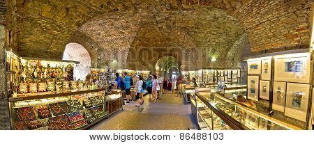 Roman Emperor Diocletian Palace Catacombs In Split
