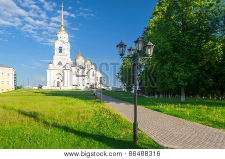 View Of The Assumption Cathedral In Vladimir, Russia