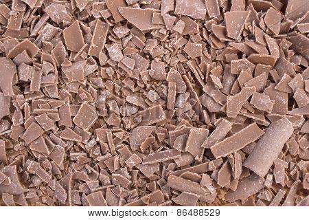 Closeup Of Chocolate Crumbs Texture Backrgound