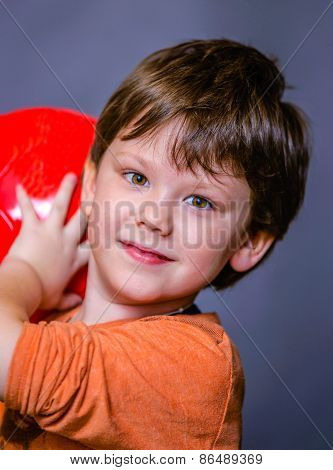 A Little Boy With Ball