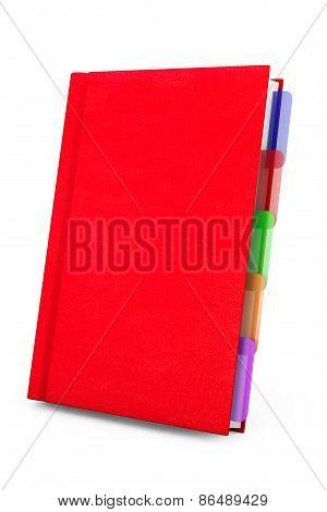 Red Organizer Notebook