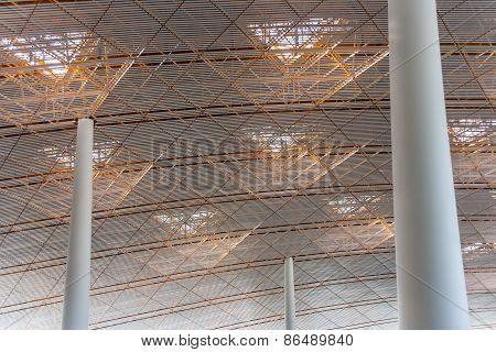 Ceiling Of The New International Airport In Beijing