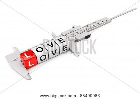 Caliper Measure Love Cubes