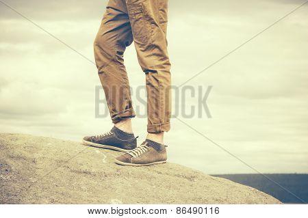 Feet Man walking Outdoor Travel Fashion Lifestyle