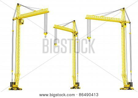 Yellow Hoisting Cranes