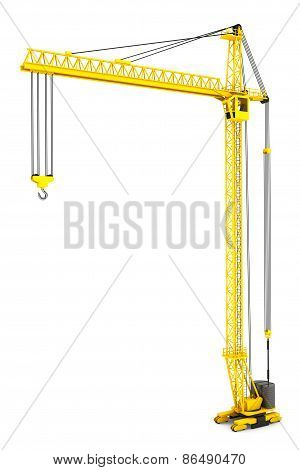 Yellow Hoisting Crane