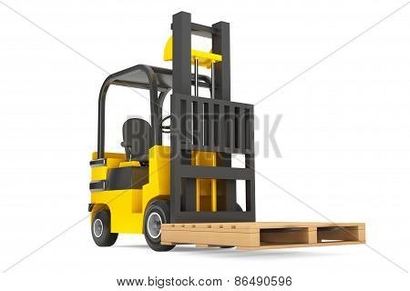 Forklift Truck With Empty Palette
