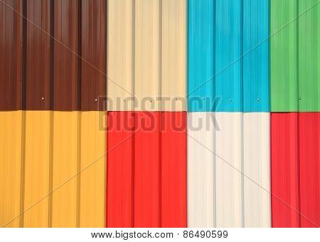 Multicolor Galvanize Or Zinc Wall  Texture