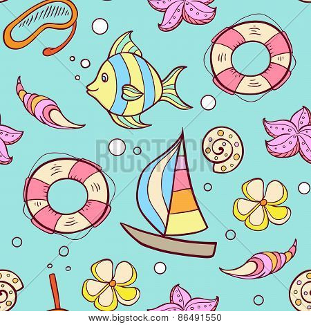Summer Marine Seamles Pattern