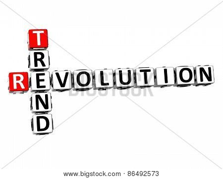 3D Crossword Trend Revolution On White Background
