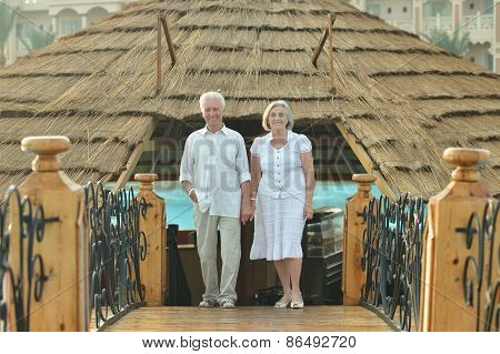 Old couple on vacation