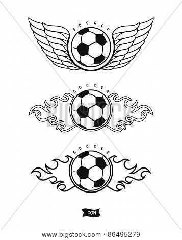 Set soccer icons