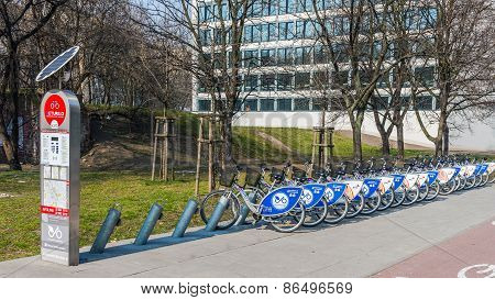 Bike rental station