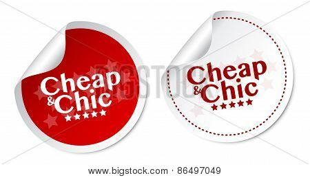 Cheap & Chic stickers