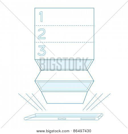 Smartphone list in blue color Isolated Vector illustration
