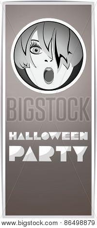 Halloween party ticket