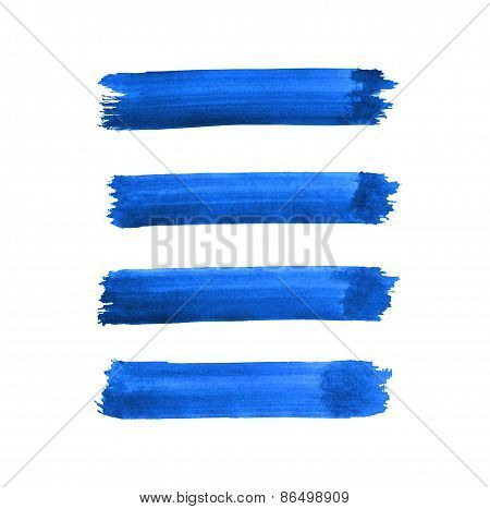 Watercolor Blue Brush Strokes Background Design