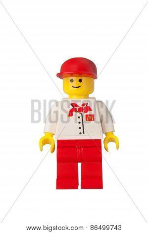 Mcdonalds Attendant Lego Minifigure