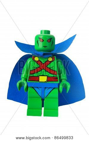 Martian Manhunter Custom Lego Minifigure