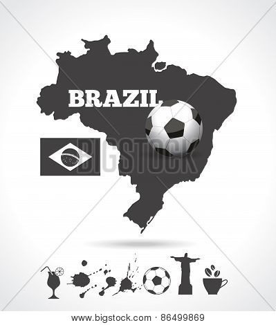 Brazil map background