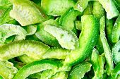picture of pomelo  - The texture of the green slices of dried candied pomelo - JPG