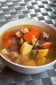 pic of veal  - Veal soup with potatos carrots and onion - JPG
